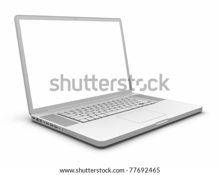 Laptop. Clipping path included.