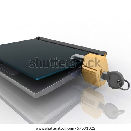 laptop closed on the lock