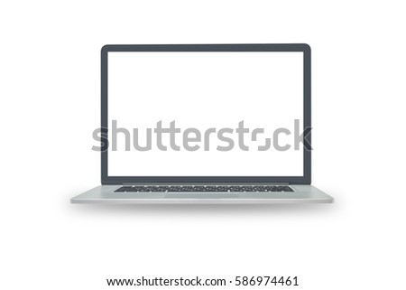 Laptop computer isolated on white background. This has clipping path. #586974461