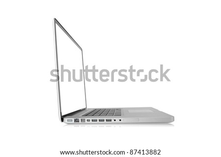 Laptop computer isolated on white (path in side)