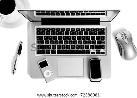 Laptop computer office still life #72388081