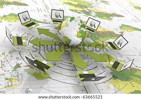 Laptop Connected To The World Wide Web