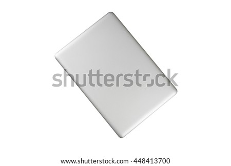 laptop in closed top view isolate on white. #448413700