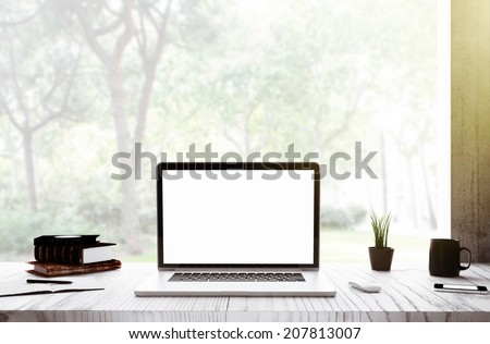 laptop in room