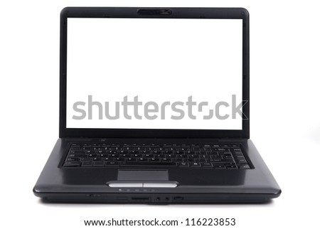 laptop isolated in white