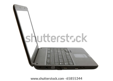 Laptop isolated on a white