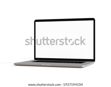 Laptop isolated on a white background. 3d illustration.