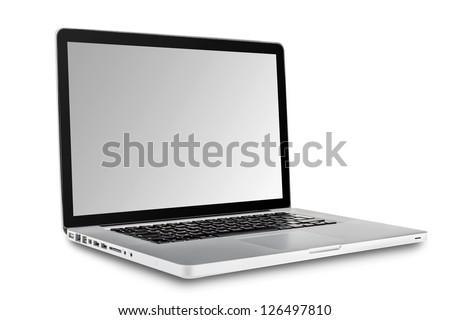 Laptop isolated on white background #126497810