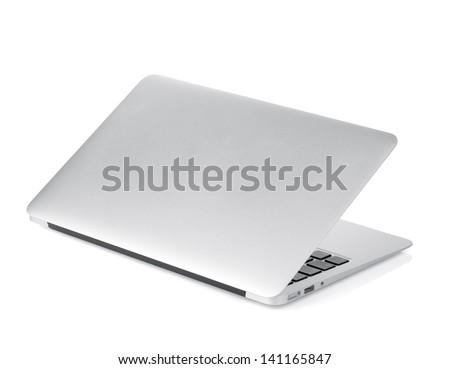 Laptop. Isolated on white background - stock photo