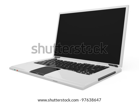laptop isolated on white background. 3d rendered image