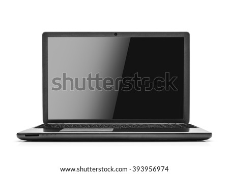 laptop isolated on white...