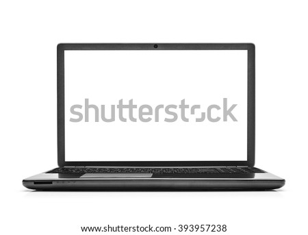 Laptop isolated on white background with clipping path. #393957238