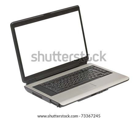 laptop isolated on white background with clipping path