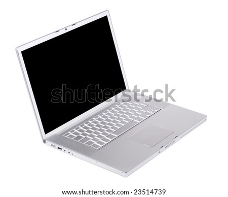 Laptop isolated [with clipping paths for screen]