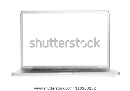 Laptop isolation on white background