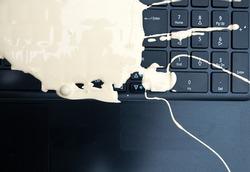 Laptop key board ruined by spilt paint