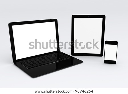 laptop,mobile phone, and tablet