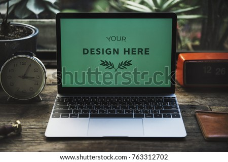 Laptop mockup isolated