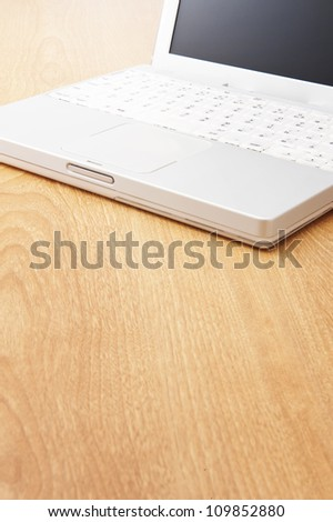Laptop on the desk