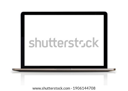Laptop or notebook isolate on white background, clipping path  Сток-фото ©