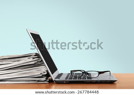 Laptop, press, news. - Shutterstock ID 267784448