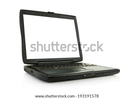 laptop with clipping paths included