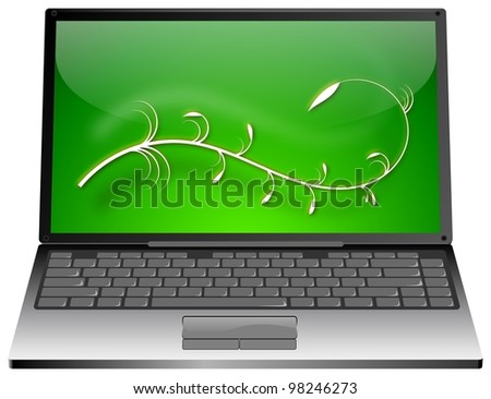 Laptop with floral element