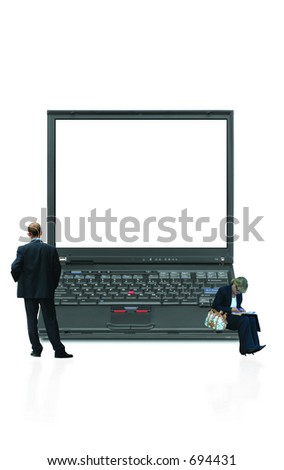 Laptop with message option