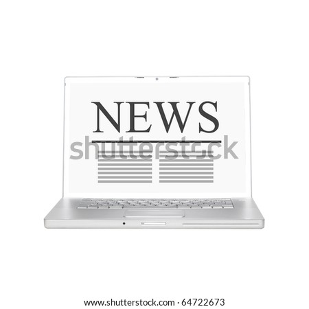 Laptop with online news