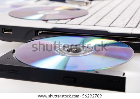 laptop with open cd tray ez canvas