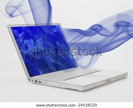 wallpaper for laptop. stock photo : laptop with