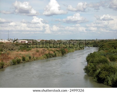 Laredo, Texas United States Mexico border