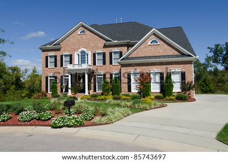 Large american house exterior