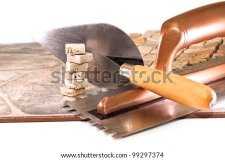 Large and small ceramic tiles and tool builder