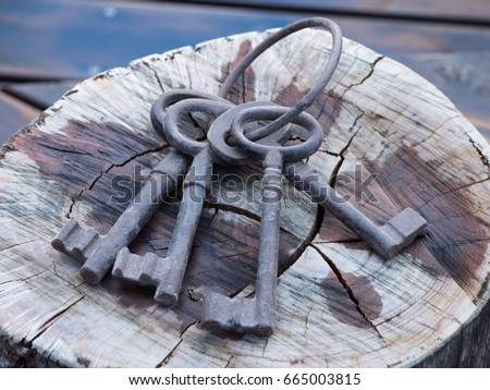 Large antique keys #665003815