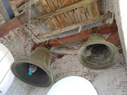 Large bells in the bell tower of the Orthodox Church