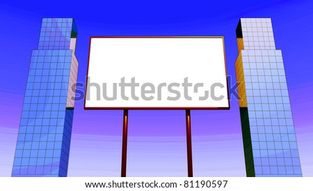 Large billboard on urban setting for outdoor advertising