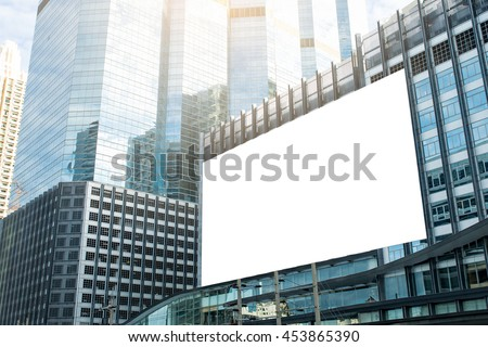 Large billboard Signs for advertisement on buildings at the downtown area economy,Business for advertisement