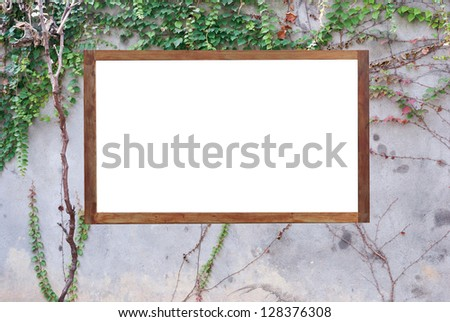 Large billboard with blank white paper ready for text.