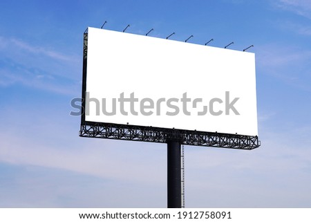 Large Blank billboard for outdoor advertisement with copy space.                                Stock foto ©
