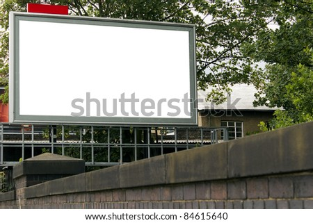 Large blank billboard for your design
