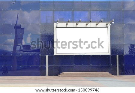 Large blank signboard for your advertisement or graphic design