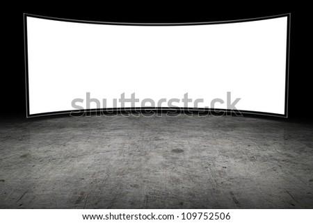 Large blank TV
