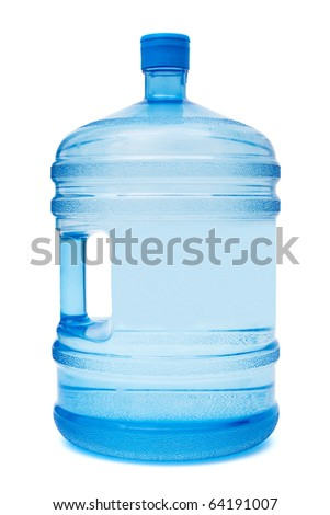 large bottle of water on a white background - stock photo
