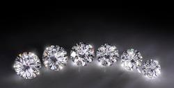 Large carat size diamond comparison. 1-3 carat . For jeweler .