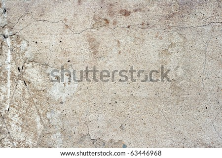 Large cement wall