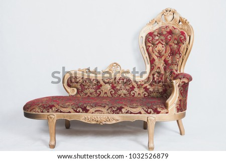 Large chair .modern red sofa contemporary style in white backdrop