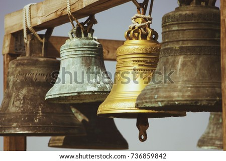 Shutterstock large Church bells hanging outside