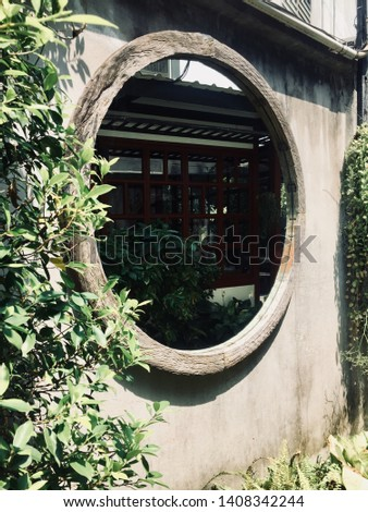 Large circular glass, large circular mirror with the most elegant and elegant design. #1408342244