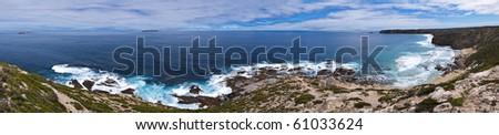 Large coastal landscape panorama